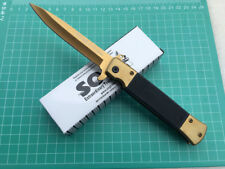 Assisted Opening Golden Folding Pocket Knife Camping Fishing Survival Gift
