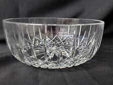 "Vintage WATERFORD LISMORE Crystal Glass 10"" Diameter Large IRELAND BowlSigned"