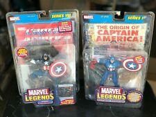 Toy Biz Marvel Legends Lot - Captain America action figures w/ comic book