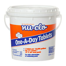 6 LB. ONE-A-DAY TABLET 7,500 GALLONS CHLORINE FOR SWIMMING POOLS Nu-Clo 1023