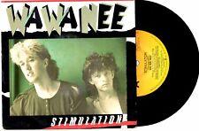 "WA WA NEE - STIMULATION / HEADLINES - 7"" 45 VINYL RECORD PIC SLV 1985"