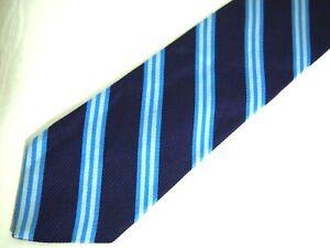 "Brooks Brothers Makers Mens Necktie Tie Purple Blue Striped Skinny 61"" Long"
