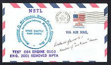 Walter Jacobi signed autograph auto Postal Cover Von Braun Rocket Team