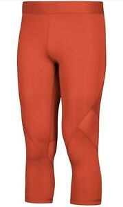 🩳 Adidas XXL Collegiate Orange Alphaskin Sports 3/4 Tights Fit A6