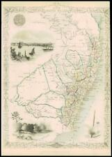More details for 1851 original illustrated antique map tallis new south wales australia (dw151)