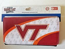 Virginia Tech Hokies Folding Wallet Check Book Coin Credit Cards Holders