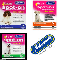 Johnsons 4Fleas SpotOn Dual Action Flea Treatment for Dogs/Puppies 2 Treatments