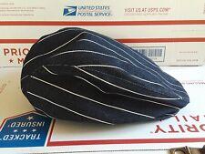 SALESMAN SAMPLE ROCAWEAR Navy Cotton Denim pinstripe Newsboy Cabbie Hat HIP HOP