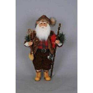Karen Didion Originals Mountaineer Santa Figurine, 17 Inches