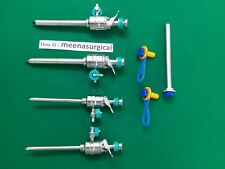 7 Pieces Laparoscopic Set Trocar Cannula 5mm Amp 10mm Surgical Instruments