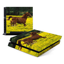 Skin Decal Cover Sticker for Sony PlayStation 4 PS4 - Baby Horse Running w/ Mom