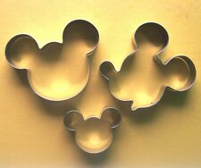 Mickey mouse head face fondant biscuit baking cookie cutter set