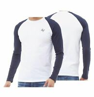 Mens Jack And Jones Contrast Raglan Top Long Sleeve T-Shirt Sizes from S to XXL