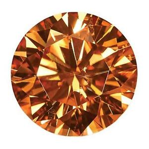 1 Round Cut Brilliant Moissanite Fancy Bourbon 7mm Diameter 1.20 tcw Loose Stone