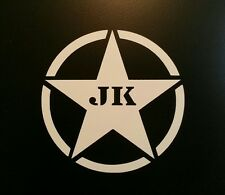 ARMY STAR  ** 4 WHEEL DRIVE ** DECAL ** JEEP CJ-5 CJ-7 YJ TJ JK WRANGLER SAHARA