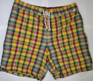 Vintage Polo by Ralph Lauren Checkered Swim Shorts Men's size large. EUC