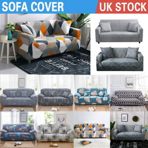 1/2/3 Seater Sofa Covers Floral Elastic Stretch Couch Slipcover Protector Soft