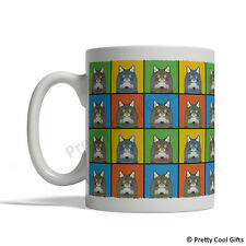 Norwegian Forest Cat Mug - Cartoon Pop-Art Coffee Tea Cup 11oz Ceramic