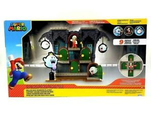 Super Mario Deluxe Boo Mansion10 Pc Playset Toy, See description for set details