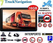 "NAVIGATORE PER CAMION 7""GPS IVECO MAPPA EUROPA 88 Z. INDUSTRIALI/INTERP. 12/2017"
