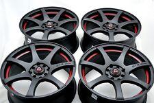 15 Drift matt black wheels rims MR2 Corolla Forenza Fit Yaris Aveo 4x100 4x114.3