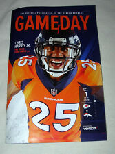 OCT 1, 2018 DENVER BRONCOS STADIUM PROGRAM VS KANSAS CITY CHIEFS - CHRIS HARRIS