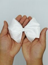 Beautiful Hand-Made Large White Hair Bow Accessory