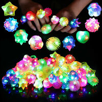 Light up Flashing Rings Jelly Led Bumpy Rubber Ring Party Favors Light Up Rings