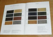 Mercedes Interior Colour Guide 1982-1983  SL R107 W126 W123 C Coupe 380 500 SEC