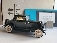 Franklin Mint 1932 Ford Deuce Coupe 1:24 Scale Diecast Model Car