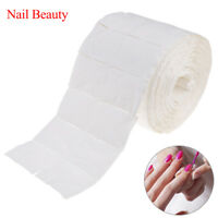 500PCS 1 Roll Wipes Pads Paper Nail Art Tips Polish Manicure Remover White