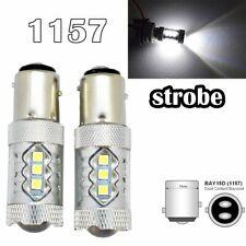 Strobe Rear Signal 1157 2057 3496 7528 BAY15D P21/5W 80W LED White M1 MAR