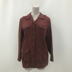 Mulberry Jacket UK 16 Womens Burgundy Brown Casual Business Formal 282562