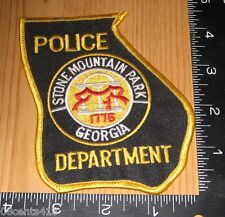 Police Department Stone Mountain Park Georgia Cloth State Shaped Patch Only
