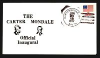 1977 Carter Mondale Inauguration Cover - Carterville GA CDS - Z14285