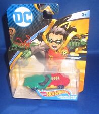 DC UNIVERSE MARVEL COLLECTOR HOT WHEELS ROBIN (BATMAN) CHARACTER CARS, NEW