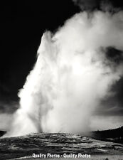 "Old Faithful Geyser Yellowstone National Park 8.5x11"" Photo Print Ansel Adams"