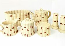 "Wedgwood Terra Cotta on Primrose Jasperware ""Bamboo"" Set - Excellent Condition!"