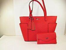 "NWT GUESS Purse, Red Handbag & Matching Envelope Wallet ""Dreamville"""