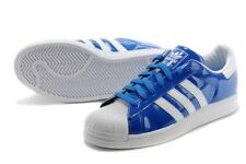 adidas Superstar Trainers Shoes BLUEBIRD/WHITE 100% Genuine! Size UK 9