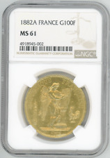 France 100 Francs 1882-A ANGEL NGC-MS61 Uncirculated gold