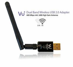 VU+ 600 Mbps Wifi WLAN USB Stick 2,4 und 5 GHz mit 2dBi Antenne