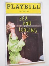 September 1996 - The Cort Theatre Playbill - Sex and Longing - Guy Boyd