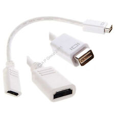 White .2m Mini DVI Male to HDMi Female Stub Cable 4 Apple Device to HDMI Display