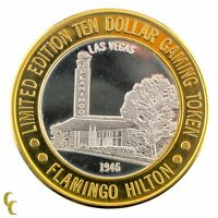 Flamingo Hilton 1946 $10 Casino Gaming Token .999 Silver Ltd Edition