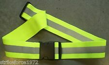 NEW - Hi Viz Bright Yellow Safety Belt - Current MoD Issue - Made by 3M