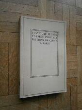 Victor Hugo - Poemes choisis - Editions de Cluny - 1948