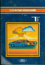 1974 Ford Car Buying Made Easier Booklet