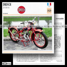 #012.14 DRESCH 250 MS 604 1929 Fiche Moto Classic Bike Motorcycle Card