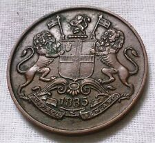 EAST INDIA COMPANY 1/4 ANNA 1835 RARE EXCELLENT GRADE VERY PROMINENT DETAILS